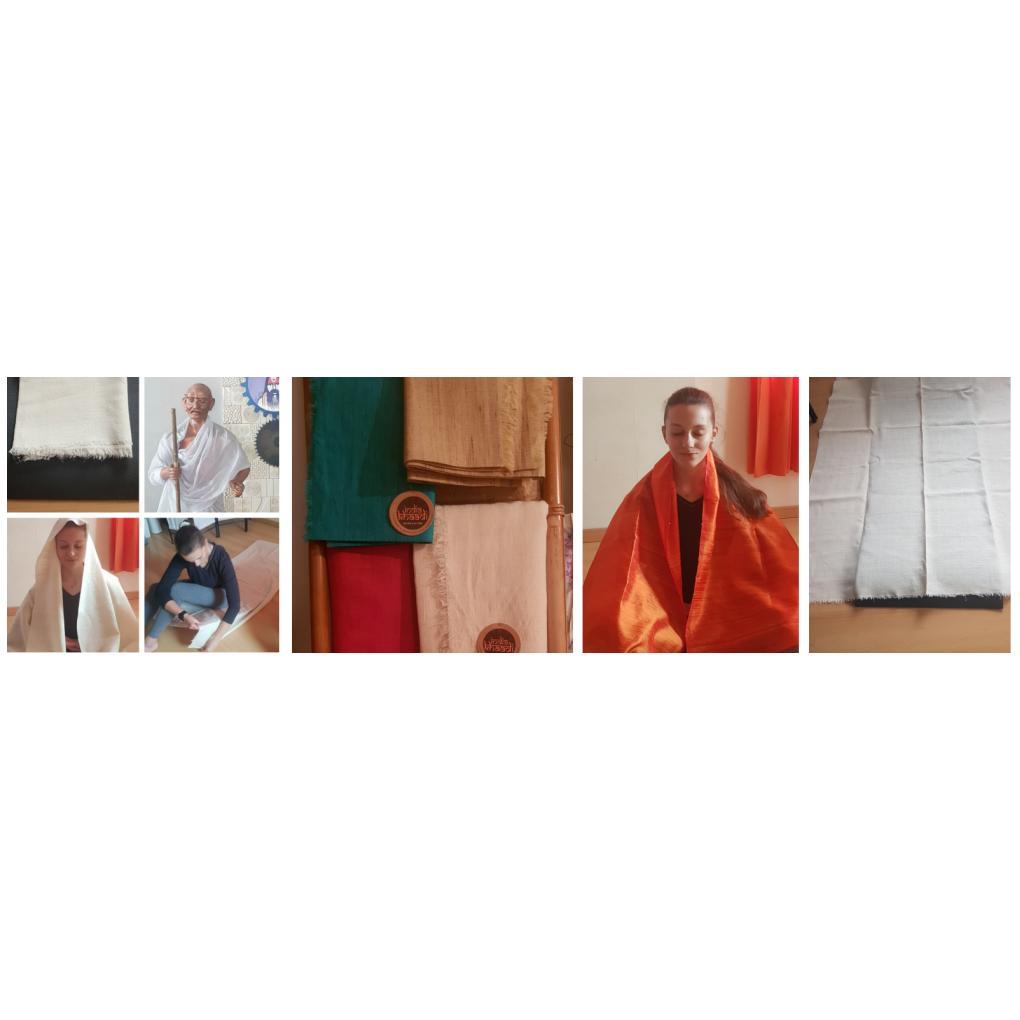 Tapis yoga en soie 2
